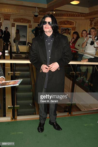 Singer Michael Jackson visits Harrods October 12 2005 in London England