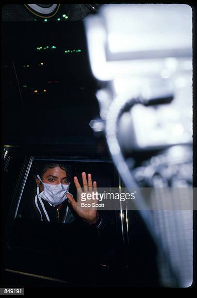 Singer Michael Jackson waves from a limousine November 15 1988 in Los Angeles CA Jackson's 1987 album Bad sold more than twentyfive million albums...