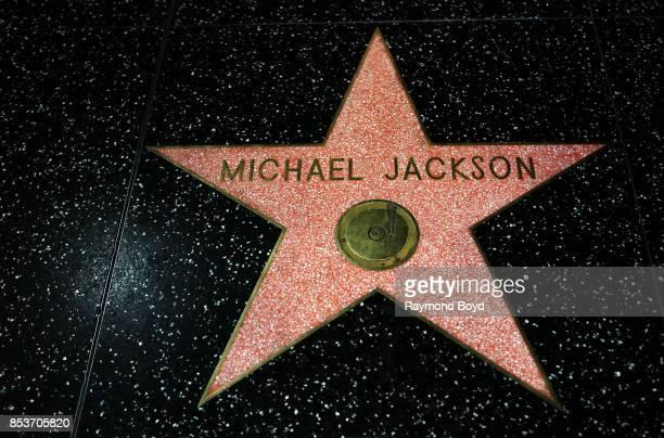 Singer Michael Jackson's star along the Hollywood Stars Walk of Fame in Hollywood California on September 10 2017
