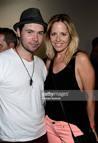 Singer Michael Johns and Stacey Vuduris attend Alanis Morissette Havoc and Bright Lights Listening Party Hosted by Sonos and Target at Sonos Studio...