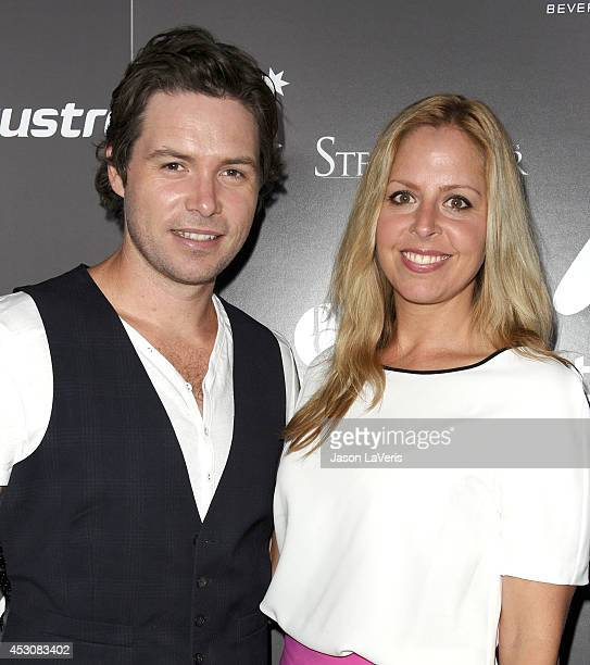 Singer Michael Johns and wife Stacey Vuduris attend the 2011 Australians In Film Breakthrough Awards at Thompson Hotel on June 7 2011 in Beverly...