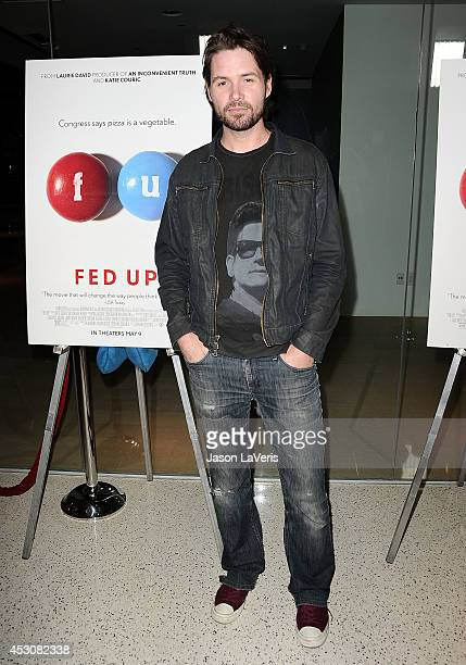 Singer Michael Johns attends the premiere of Fed Up at Pacfic Design Center on May 8 2014 in West Hollywood California