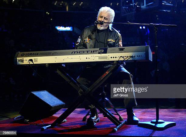 Singer Michael MacDonald performs during halftime of the 2004 NBA AllStar Game on February 15 2004 at the Staples Center in Los Angeles California...
