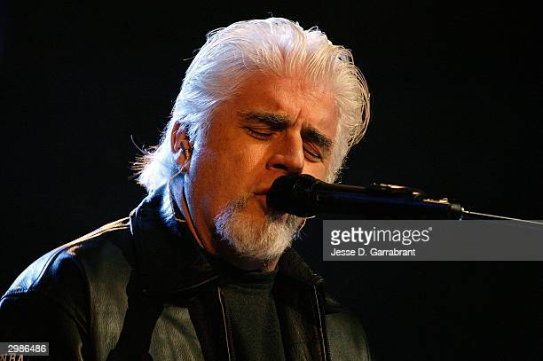 Singer Michael McDonald performs during the NBA AllStar Game halftime show on February 15 2004 at the Staples Center in Los Angeles California NOTE...
