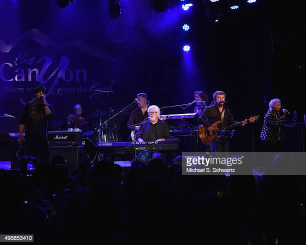 Singer Michael McDonald performs with Ambrosia during their appearance at the weSpark Cancer Support Center Benefit Concert 'An Evening with Michael...