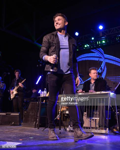 Singer Michael Ray performs at Marathon Music Works on March 13 2018 in Nashville Tennessee