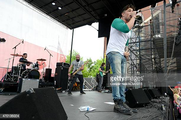 Singer Michael Ray performs onstage during the ACM Party For A Cause Festival at Globe Life Park in Arlington on April 17 2015 in Arlington Texas