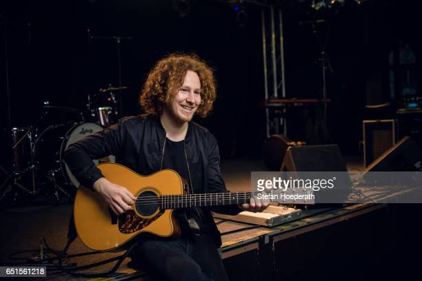 Singer Michael Schulte poses during a portrait session at Frannz Club on March 10 2017 in Berlin Germany