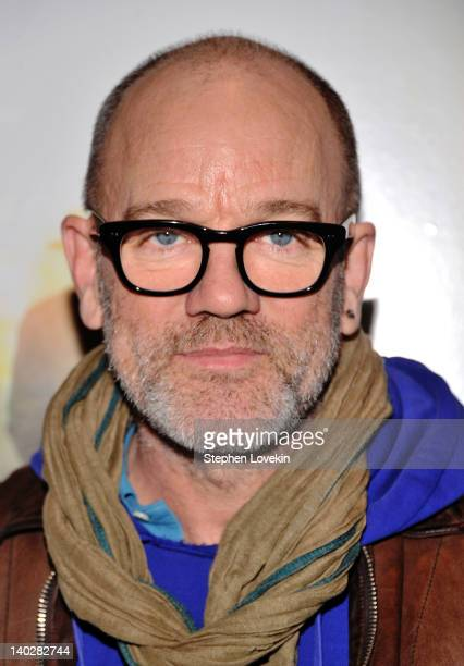 Singer Michael Stipe attends a screening of Being Flynn at the Tribeca Grand Screening Room on March 1 2012 in New York City