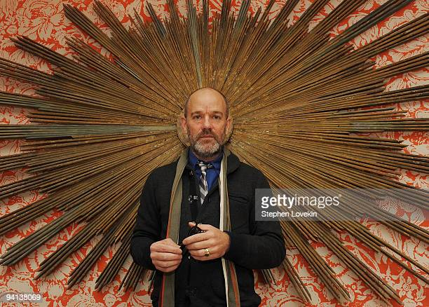 """Singer Michael Stipe of R.E.M. Attends the premiere of """"The Imaginarium of Doctor Parnassus"""" at the Crosby Street Hotel on December 7, 2009 in New..."""