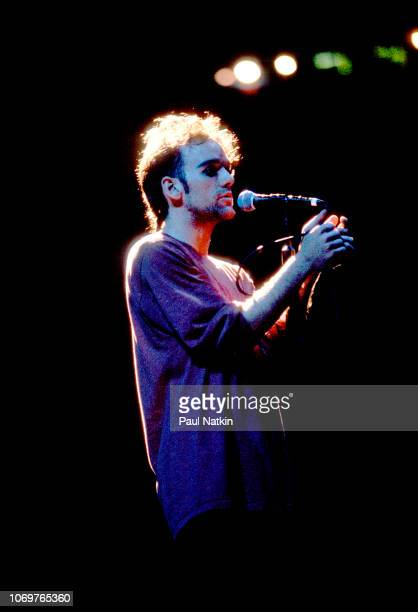 Singer Michael Stipe of REM performs on stage at the Rosemont Horizon in Rosemont Illinois June 2 1995