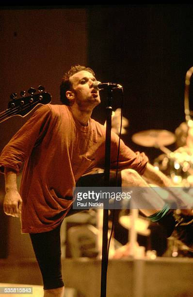 Singer Michael Stipe of the band REM performs on stage Ames Iowa March 10 1989