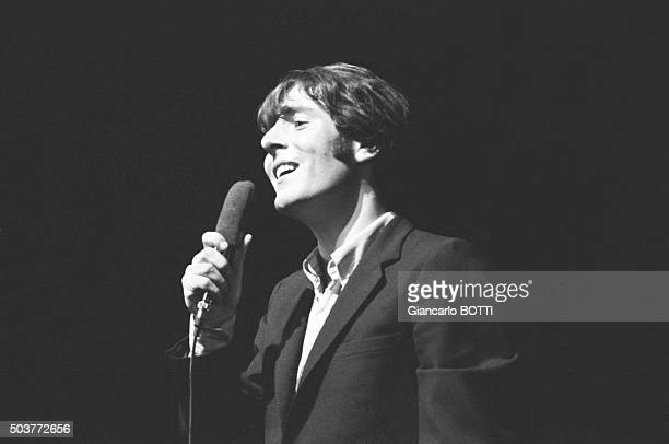 Singer Michel Delpech at the Olympia music hall in Paris France in September 1966