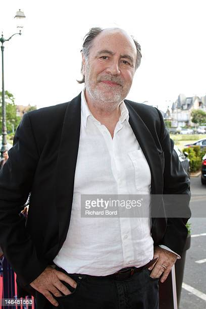 Singer Michel Delpech poses as he attends the 26th Cabourg Romantic Film Festival on June 16 2012 in Cabourg France