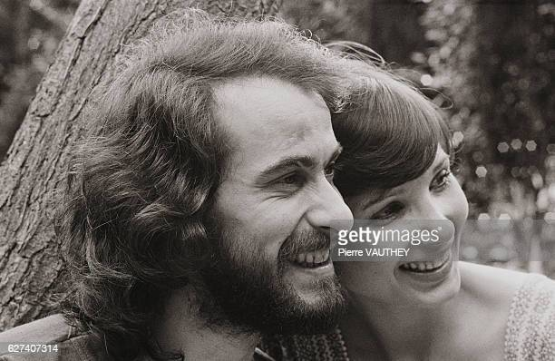Singer Michel Fugain and His Wife Stephanie