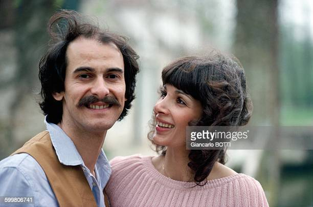 Singer Michel Fugain And Wife Stéphanie In Paris, France, Circa 1970 .