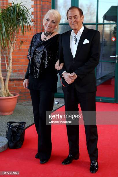 Singer Michel Holm and manager Christiane Wagner pose during the Steiger Award at Coal Mine Hansemann Alte Kaue on March 25 2017 in Dortmund Germany