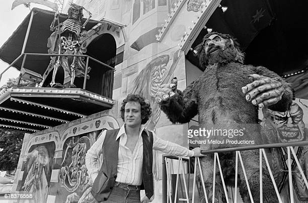 Singer Michel Jonasz at French Amusement Park