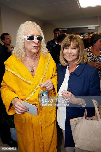 Singer Michel Polnareff and Singer Chantal Goya attend the Michel Polnareff New Tour in France at AccorHotels Arena on May 07 2016 in Paris