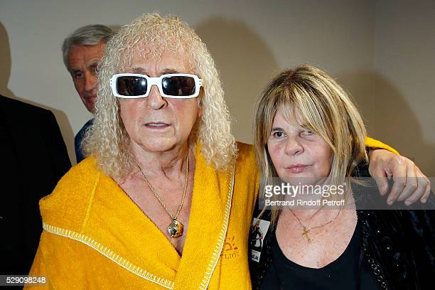 Singer Michel Polnareff and TV Producer Dominique Cantien attend the Michel Polnareff New Tour in France at AccorHotels Arena on May 07 2016 in Paris