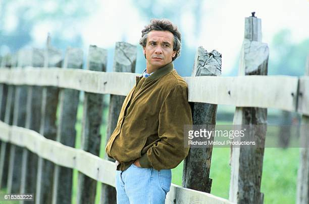 Singer Michel Sardou on Holiday in Normandy