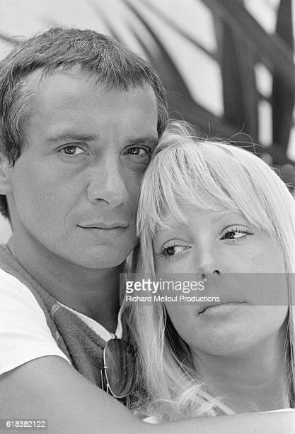 Singer Michel Sardou with Wife Babette