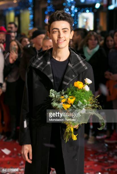 Singer Michele Bravi attends the Red Carpet of 67° Sanremo Music Festival Sanremo February 6 2017
