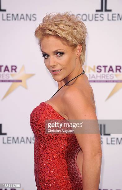 """Singer Michelle attends """"Mein Star des Jahres"""" Awards at Stage Entertainment Theatre on February 2, 2012 in Hamburg, Germany."""