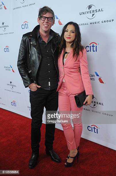 Singer Michelle Branch and Patrick Carney of The Black Keys arrive at Universal Music Group's 2016 GRAMMY After Party at The Theatre At The Ace Hotel...