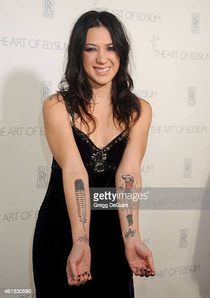 Singer Michelle Branch arrives at The Art Of Elysium's 8th Annual Heaven Gala at Hangar 8 on January 10 2015 in Santa Monica California