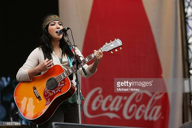 Singer Michelle Branch of the duo group the Wreckers performs in downtown Indianapolis at the My Coke Fest during Final Four weekend Apr 2, 2006.