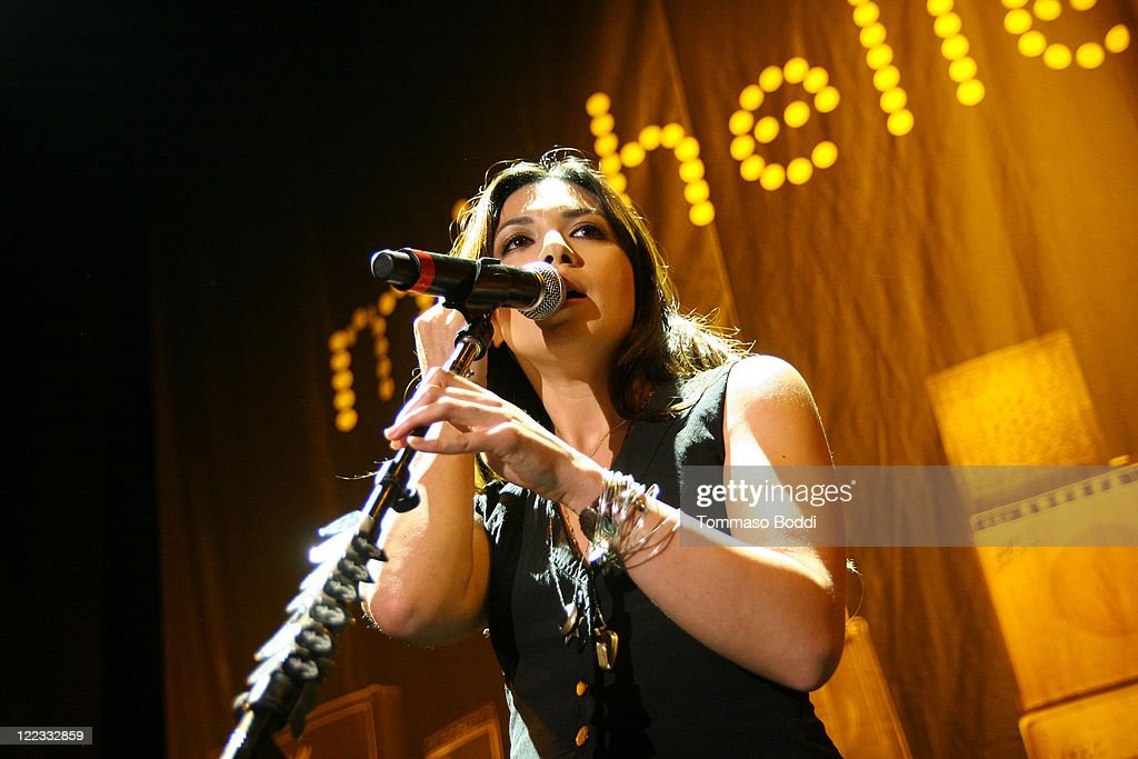 Singer Michelle Branch performs at the Greek Theatre on August 27, 2011 in Los Angeles, California.