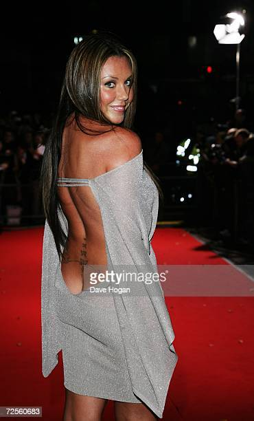 Singer Michelle Heaton arrives at the 2006 World Music Awards at Earls Court on November 15 2006 in London