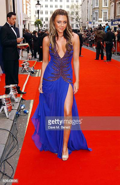 Singer Michelle Heaton arrives at The Pioneer British Academy Television Awards at the Theatre Royal on April 17 2005 in London
