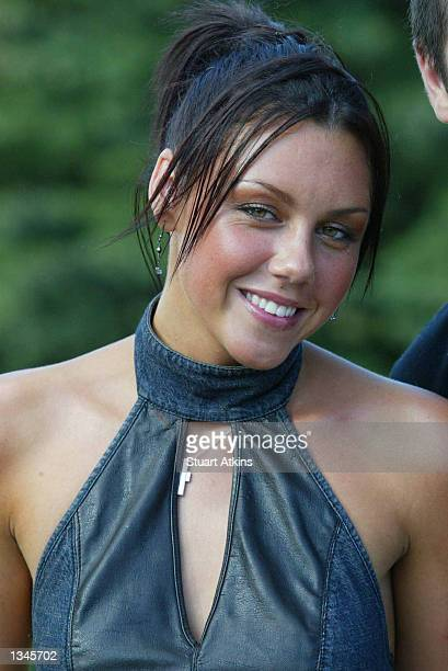 Singer Michelle of the pop group Liberty X poses at Drayton Manor Park on August 18 2002 in Staffordshire England