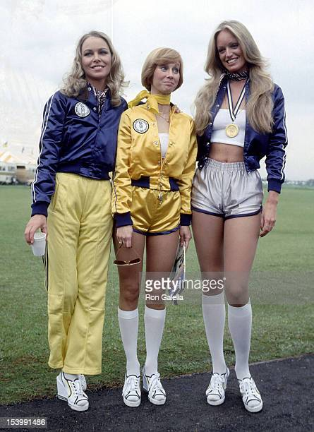 Singer Michelle Phillips actress Sandy Duncan and actress Susan Anton attend CBS's First Annual Rock Roll Sports Classic on March 10 1978 at the...