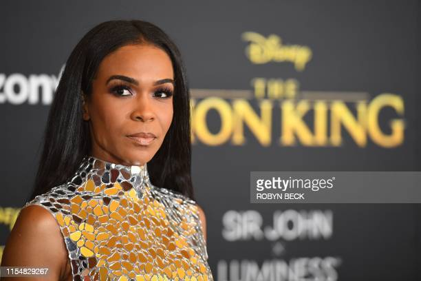US singer Michelle Williams arrives for the world premiere of Disney's The Lion King at the Dolby theatre on July 9 2019 in Hollywood