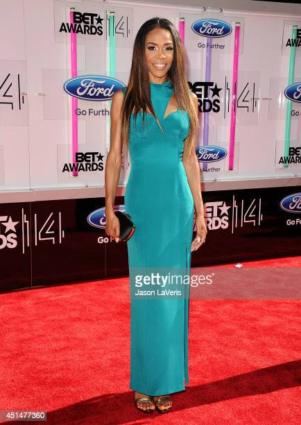 Singer Michelle Williams attends the 2014 BET Awards at Nokia Plaza LA LIVE on June 29 2014 in Los Angeles California