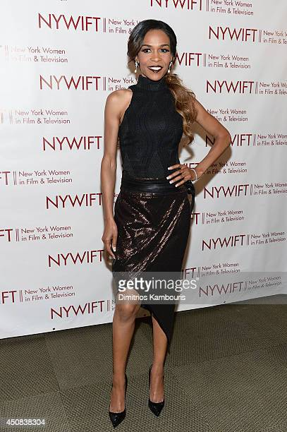 Singer Michelle Williams attends the 2014 New York Women In Film And Television Designing Women Awards Gala at McGraw Hill Building on June 18 2014...