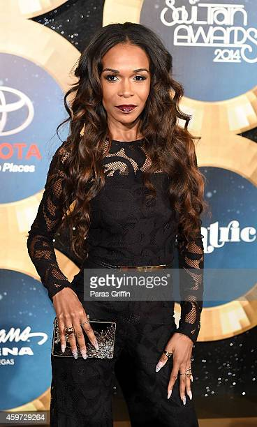 Singer Michelle Williams attends the 2014 Soul Train Music Awards at the Orleans Arena on November 7 2014 in Las Vegas Nevada