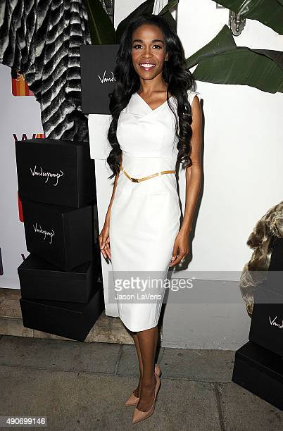 Singer Michelle Williams attends the EVINE Live celebration at Villa Blanca on September 29 2015 in Beverly Hills California