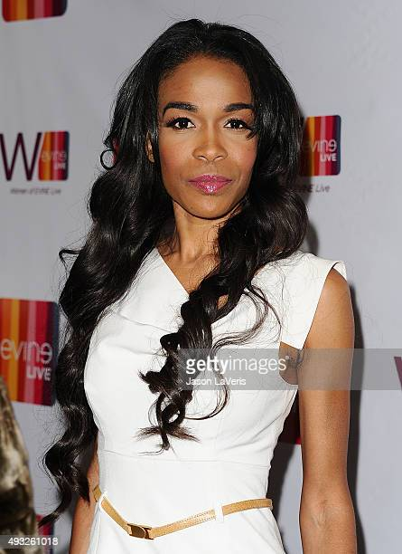 Singer Michelle Williams attends the EVINE Live celebration at Villa Blanca on September 29, 2015 in Beverly Hills, California.