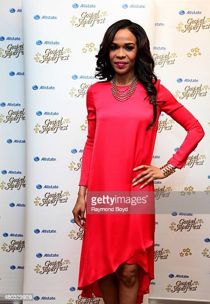 Singer Michelle Williams from Destiny's Child poses for photos at the Allstate Gospel Superfest at the House Of Hope on March 22 2014 in Chicago...