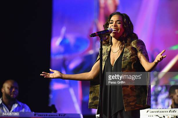 Singer Michelle Williams performs onstage at the 2016 ESSENCE Festival Presented By CocaCola at Ernest N Morial Convention Center on July 1 2016 in...