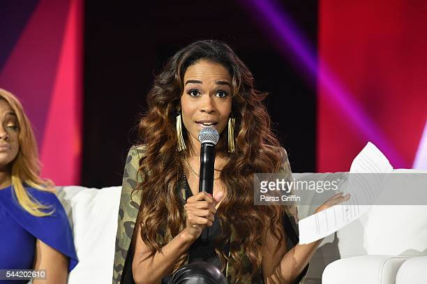 Singer Michelle Williams speaks onstage at the 2016 ESSENCE Festival Presented By CocaCola at Ernest N Morial Convention Center on July 1 2016 in New...