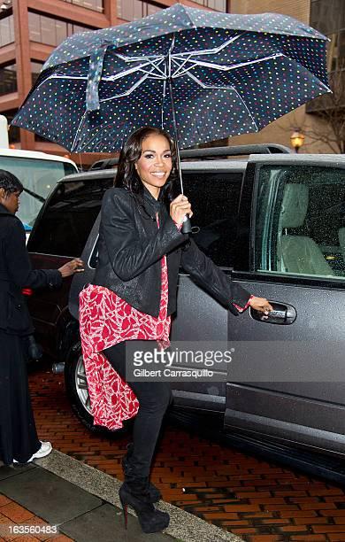 Singer Michelle Williams visits at FOX 29 Studio on March 12 2013 in Philadelphia Pennsylvania