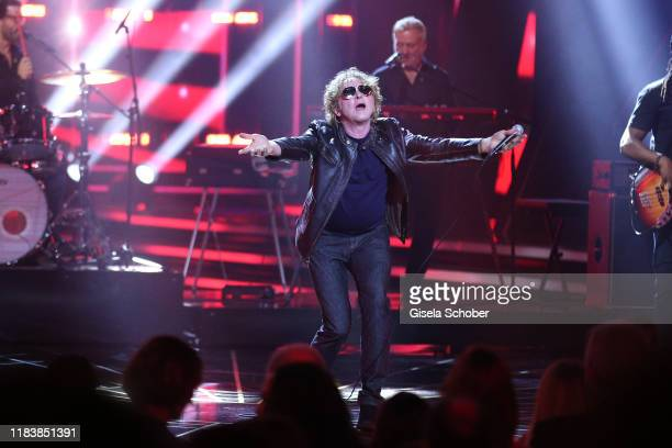 Singer Mick Hucknall of Simply Red on stage during the 71st Bambi Awards show at Festspielhaus BadenBaden on November 21 2019 in BadenBaden Germany