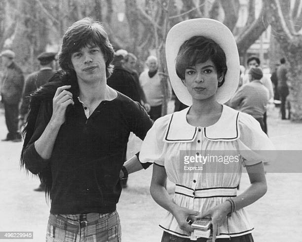Singer Mick Jagger and his girlfriend Bianca Perez Morena prior to their wedding in the South of France May 7th 1971