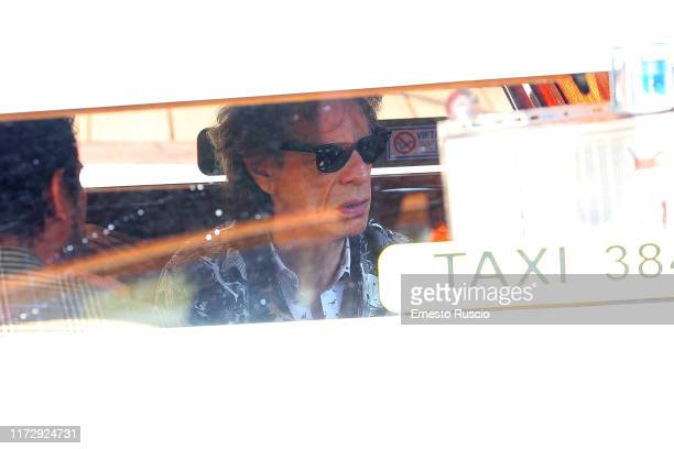 Singer Mick Jagger is seen arriving at the 76th Venice Film Festival on September 07 2019 in Venice Italy