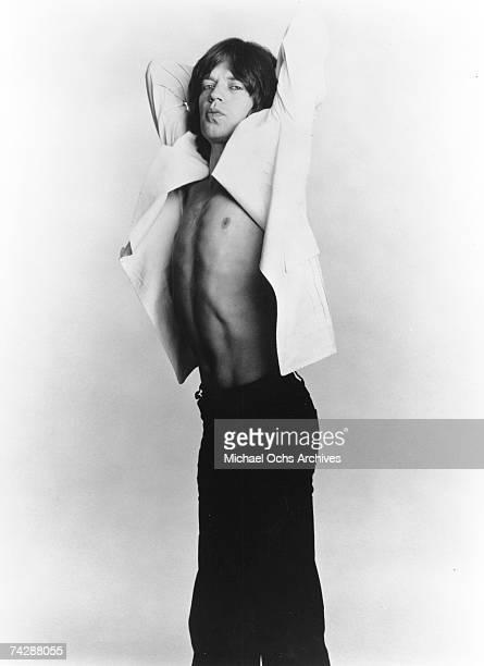 Singer Mick Jagger of the rock and roll band 'The Rolling Stones' poses for a portrait in circa 1969